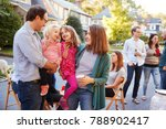 parents holding their young... | Shutterstock . vector #788902417