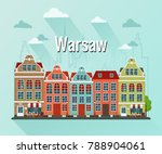 vector illustration of warsaw ... | Shutterstock .eps vector #788904061