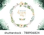 hand drawn watercolor paintings ... | Shutterstock . vector #788906824