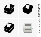 barcode label printer | Shutterstock .eps vector #788908021