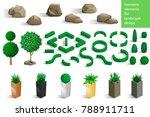 set of landscape elements...   Shutterstock .eps vector #788911711