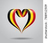 belgian flag heart shaped wavy...   Shutterstock . vector #788912509
