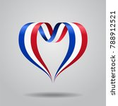 french flag heart shaped wavy... | Shutterstock . vector #788912521