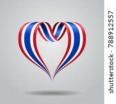 thai flag heart shaped wavy... | Shutterstock . vector #788912557
