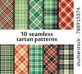 set of seamless tartan patterns   Shutterstock .eps vector #788915374