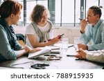 young women working and... | Shutterstock . vector #788915935