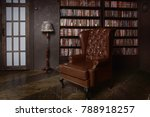 Classical Library Room With...