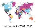 political world map | Shutterstock .eps vector #788918569