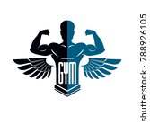 fitness and heavyweight gym... | Shutterstock .eps vector #788926105