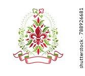 vintage heraldic vector... | Shutterstock .eps vector #788926681