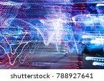 colorfull street lights... | Shutterstock . vector #788927641
