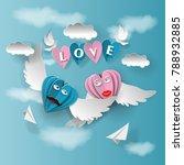love invitation card valentine...   Shutterstock .eps vector #788932885