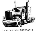american semi truck   Shutterstock .eps vector #788936017
