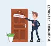 businessman invites to work.... | Shutterstock .eps vector #788938735