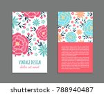 embroidery style flyer with...   Shutterstock .eps vector #788940487