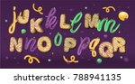 sweet font set with letters j ... | Shutterstock .eps vector #788941135