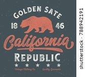 golden state california... | Shutterstock .eps vector #788942191