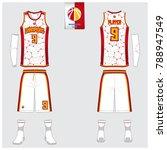 basketball uniform template... | Shutterstock .eps vector #788947549
