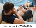 modern father playing with... | Shutterstock . vector #788949094