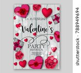 valentine's day party... | Shutterstock .eps vector #788949694