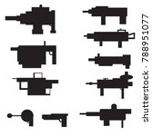 big set of silhouettes of arms... | Shutterstock .eps vector #788951077