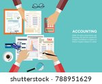 flat design concepts for... | Shutterstock .eps vector #788951629