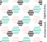 polygonal striped seamless... | Shutterstock .eps vector #788951941
