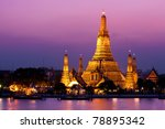 wat arun in sunset | Shutterstock . vector #78895342
