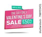 valentine's day sale banner... | Shutterstock .eps vector #788955451