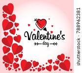 valentine's day with red hearts ... | Shutterstock .eps vector #788962381