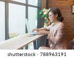 young asian business woman... | Shutterstock . vector #788963191