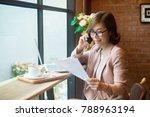 young asian business woman... | Shutterstock . vector #788963194