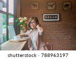 young asian business woman... | Shutterstock . vector #788963197