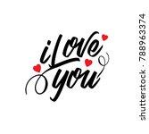 i love you vector typography   Shutterstock .eps vector #788963374