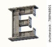 steel beam font 3d rendering... | Shutterstock . vector #788968801