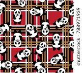 panda bear seamless pattern.... | Shutterstock .eps vector #788971939