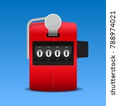 red hand tally counter vector... | Shutterstock .eps vector #788974021