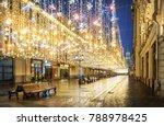 golden rain of christmas... | Shutterstock . vector #788978425