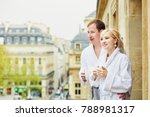 happy young couple in white... | Shutterstock . vector #788981317