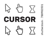 pixel cursors icons mouse hand... | Shutterstock .eps vector #788983501