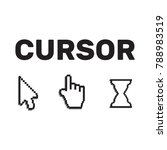 pixel cursors icons mouse hand... | Shutterstock .eps vector #788983519
