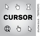 pixel cursors icons mouse hand... | Shutterstock .eps vector #788983591