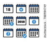 event icon. annual plan vector. ... | Shutterstock .eps vector #788984749