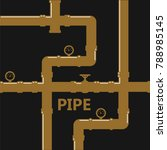 pipe fittings vector icons set. ... | Shutterstock .eps vector #788985145
