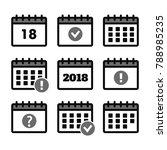 vector calendar icons. event... | Shutterstock .eps vector #788985235
