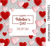 valentine s day background with ... | Shutterstock .eps vector #788986051