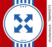 extend  resize icon. cross... | Shutterstock .eps vector #788990575