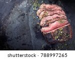 barbecue wagyu roast beef...   Shutterstock . vector #788997265