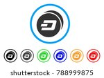 dash coins rounded icon. style... | Shutterstock .eps vector #788999875