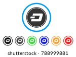 dash coin rounded icon. style... | Shutterstock .eps vector #788999881